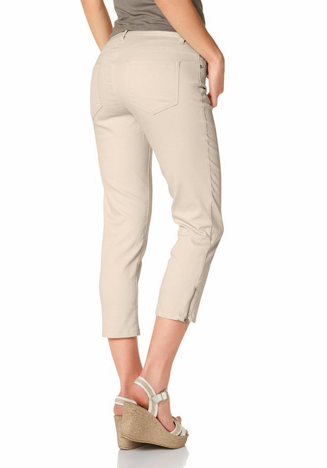 Corley 7/8-Jeans im 5-Pocket-Style in beige