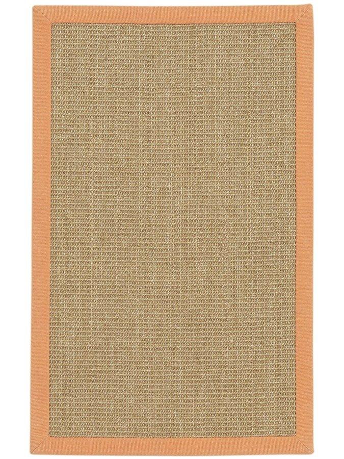 Sisal-Teppich in orange