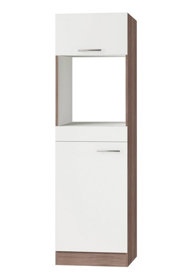 Optifit Kombinierter Backofen-Kühlumbauschrank »Rabat«, Höhe 206,8 cm in weiß/eichefarben trüffel