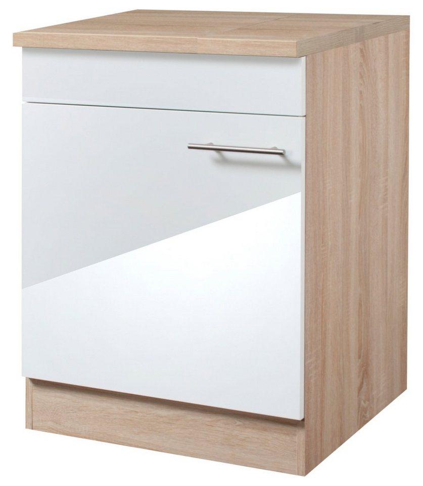 Optifit Kochfeldumbauschrank »Dakar«, Breite 60 cm in weiß/eichefarben