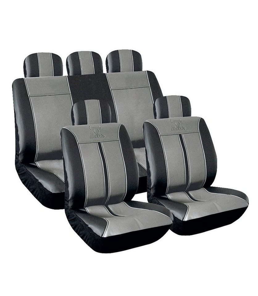 Set: Autositzbezug »Buffalo« in schwarz
