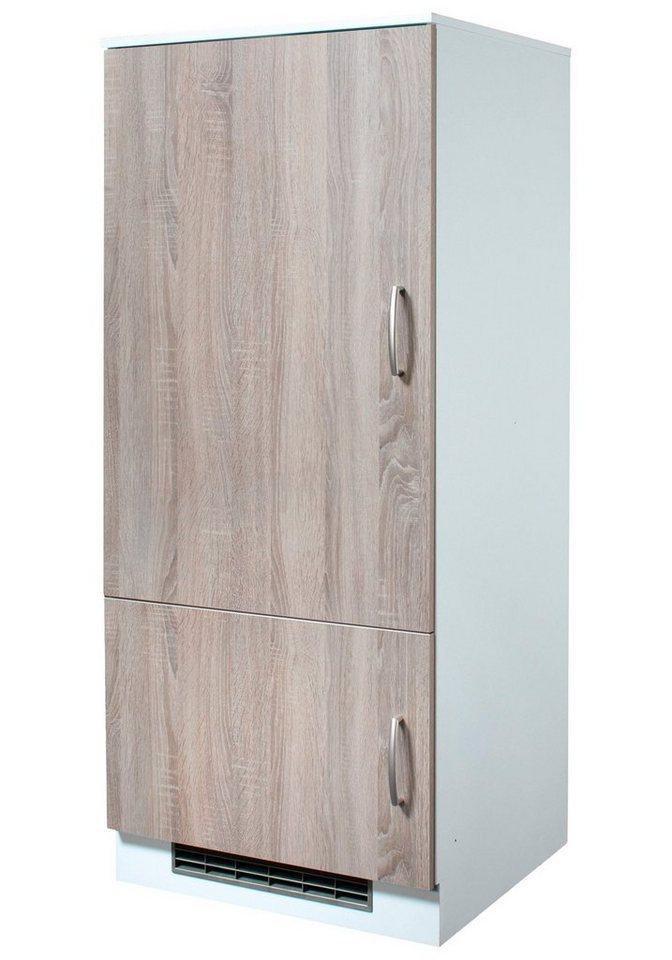 Wiho Küchen Kühlumbauschrank »Porto«, Höhe 145 cm in eichefarben trüffel