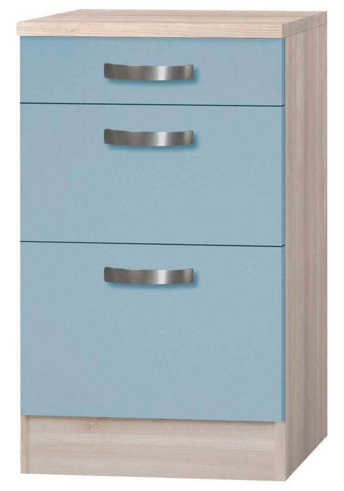 Optifit Küchenunterschrank »Skagen«, Breite 50 cm in blau