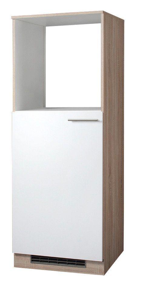 Kombinierter Backofen-Kühlumbauschrank »Montana«, Höhe 165 cm in eichefarben sonoma/weiß