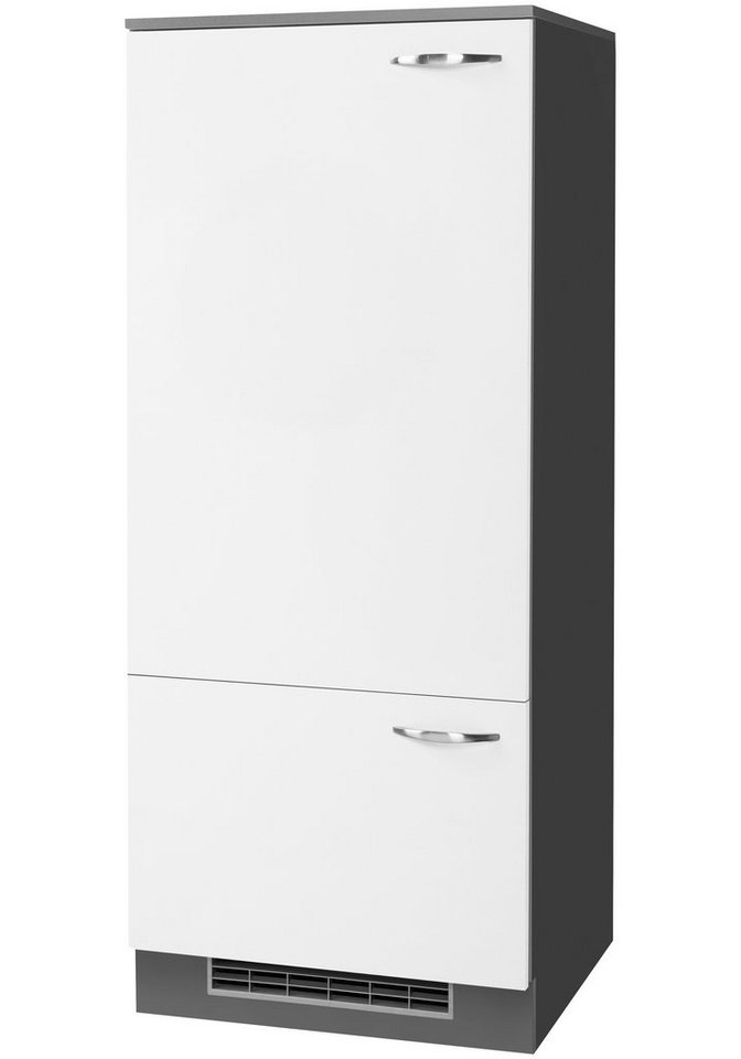 Kühlumbauschrank »Dakota«, Höhe 145 cm in weiß/anthrazit