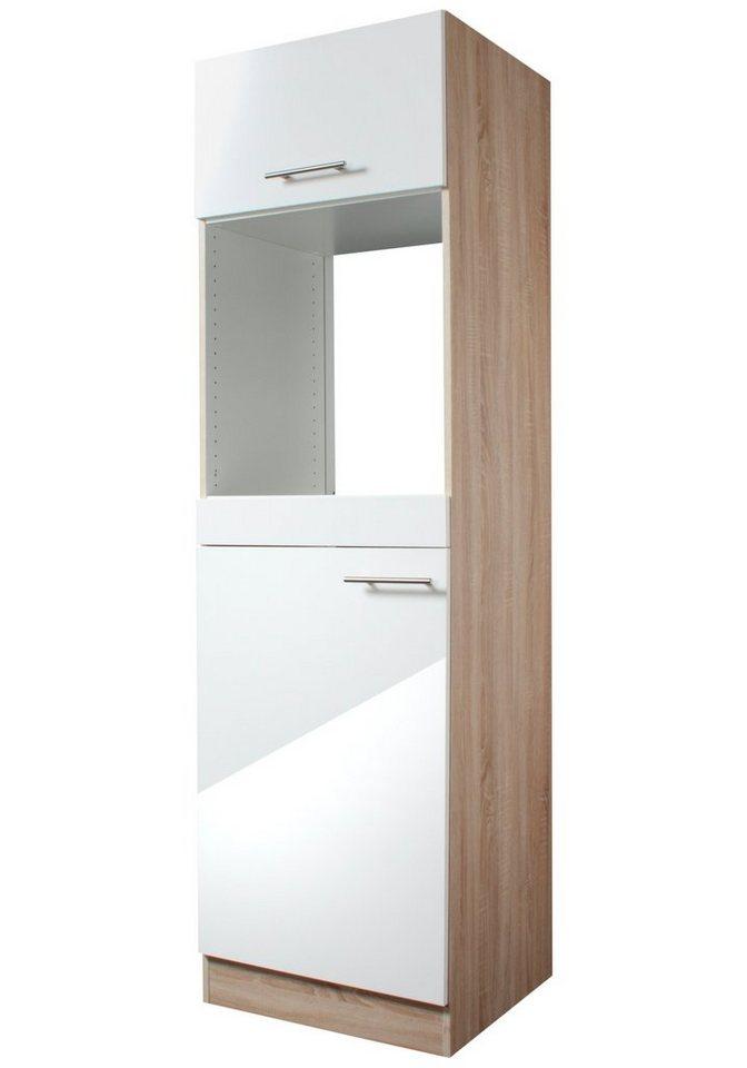 Optifit Kombinierter Backofen-Kühlumbauschrank »Dakar«, Höhe 206,8 cm in weiß/eichefarben