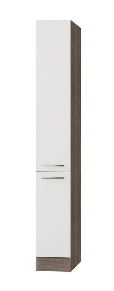 Apothekerschrank »Rabat«, Höhe 206,8 cm in weiß/eichefarben trüffel