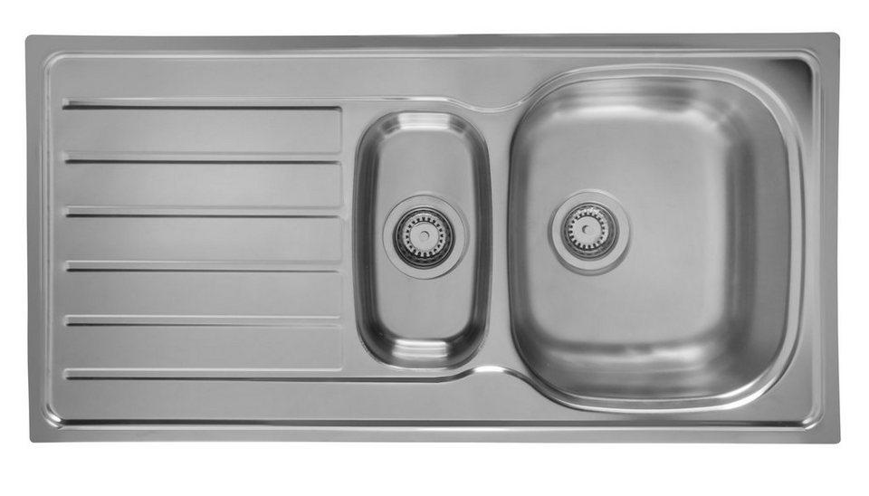 Schock Edelstahlspüle »Hypno«, mit Restebecken, 86x50 cm in silberfarben