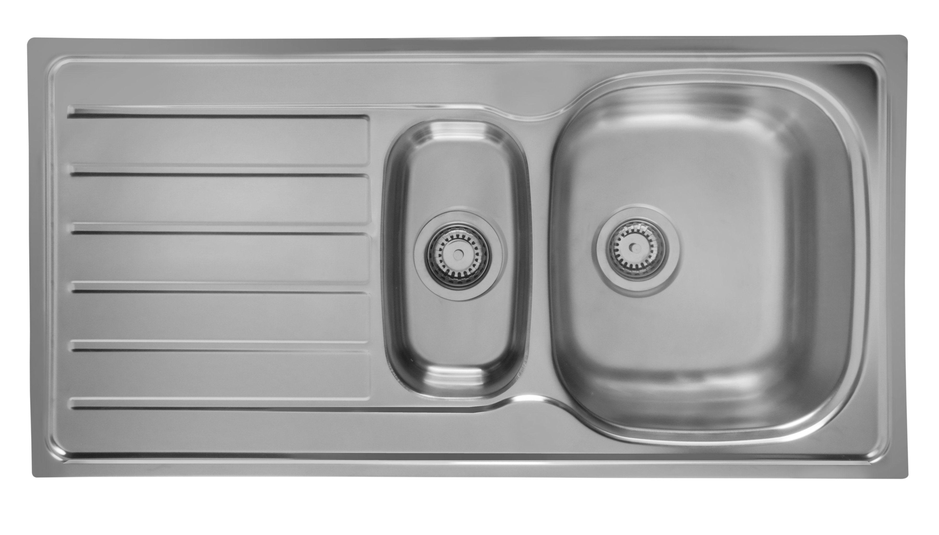 Schock Edelstahlspüle »Hypno«, mit Restebecken, 86x50 cm