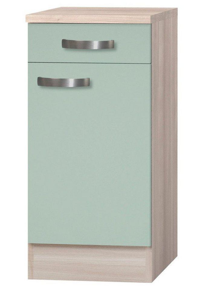Küchenunterschrank »Skagen«, Breite 40 cm in grün