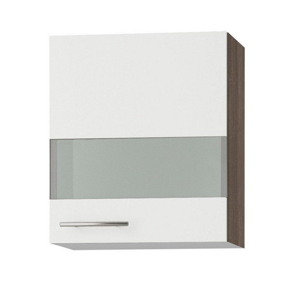 Küchenhängeschrank »Rabat«, Breite 50 cm in weiß/eichefarben trüffel