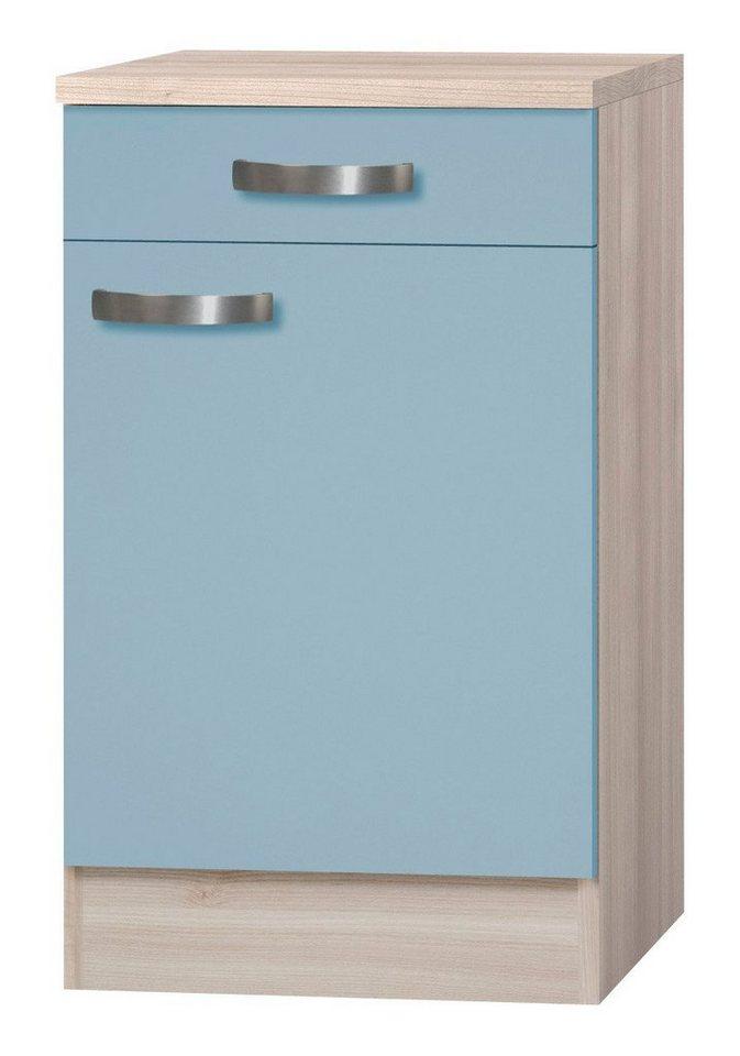 Küchenunterschrank »Skagen«, Breite 50 cm in blau