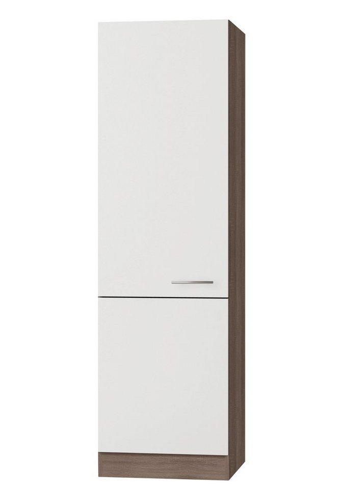 Vorratsschrank »Rabat«, Breite 60 cm in weiß/eichefarben trüffel