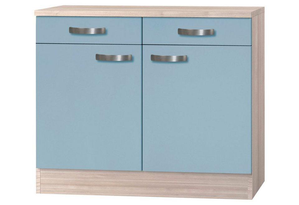 Küchenunterschrank »Skagen«, Breite 100 cm in blau