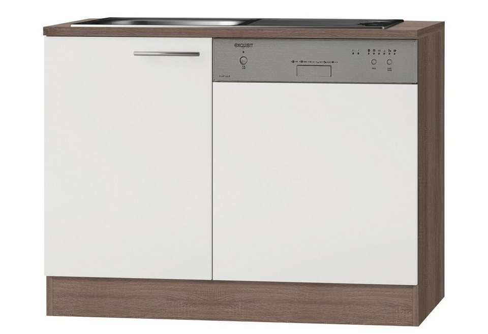 Optifit Spülenschrank »Rabar«, Breite 110 cm in weiß/eichefarben trüffel