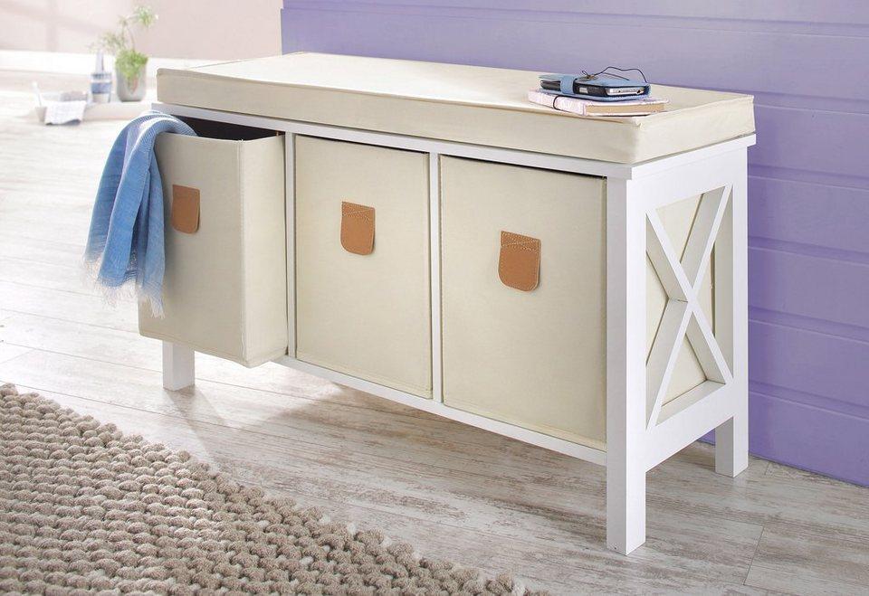 sitzbank home affaire mosi breite 80 cm inklusive 3. Black Bedroom Furniture Sets. Home Design Ideas