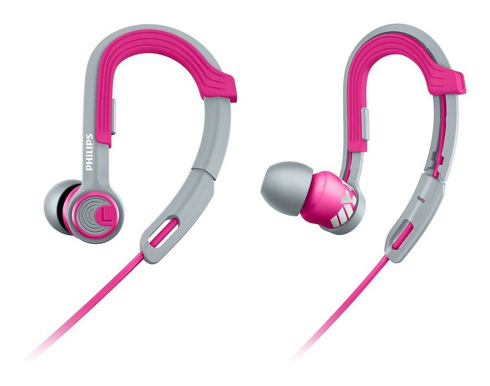 Philips Ear Clip Sportkopfhörer »SHQ3300/00« in grau/pink