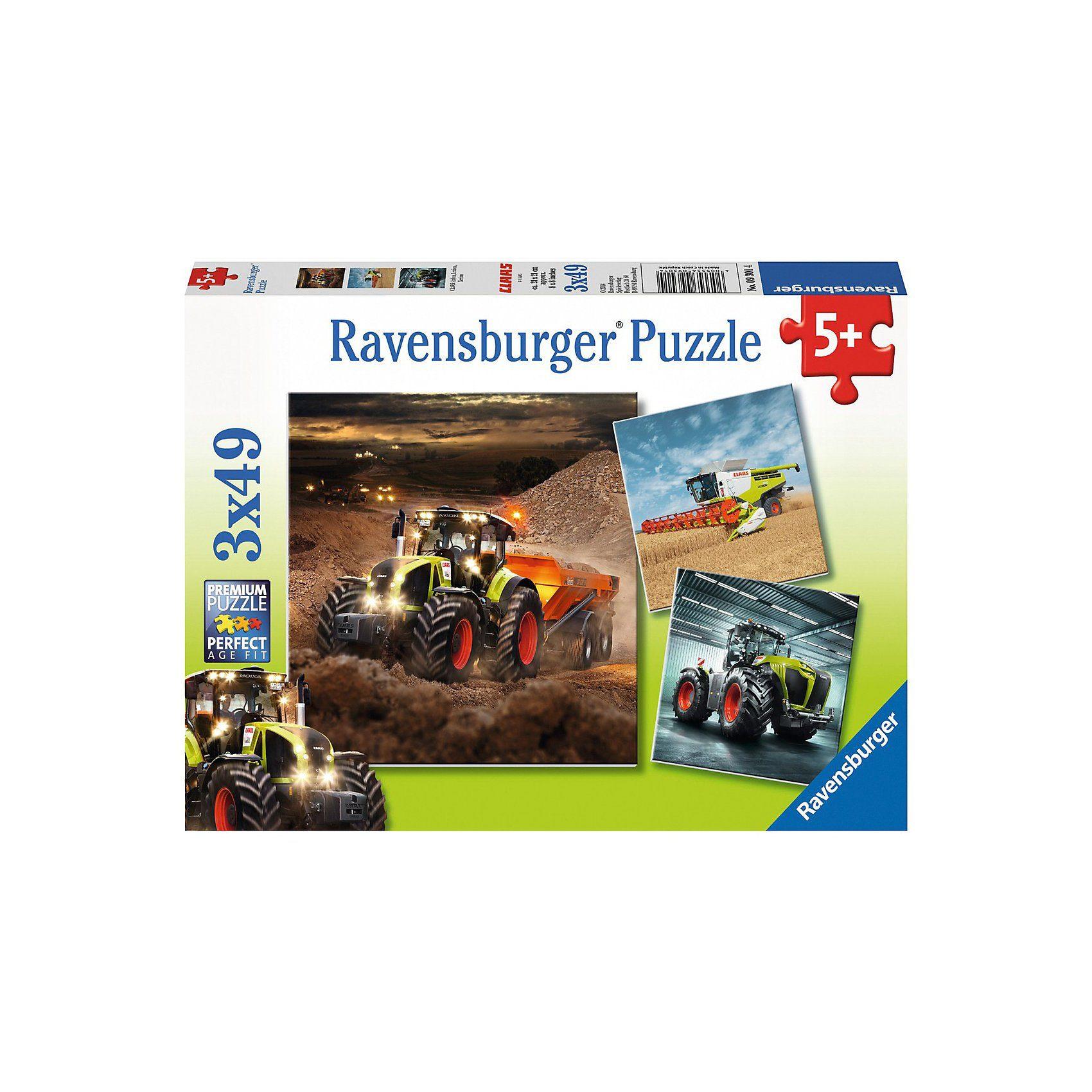 Ravensburger CLAAS: Axion, Lexion, Xerion 3 X 49 Teile