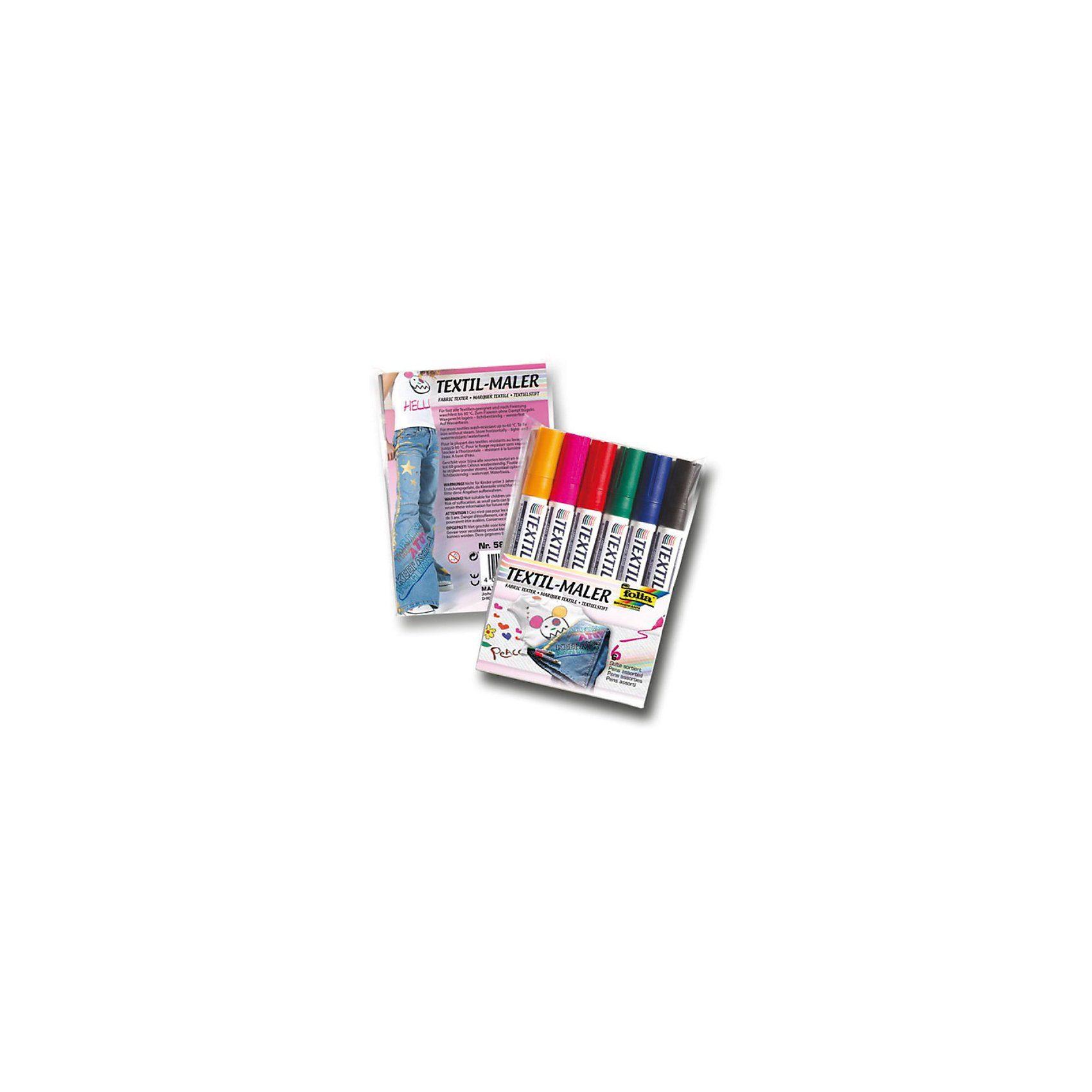 Folia Textilmaler, 6 Farben