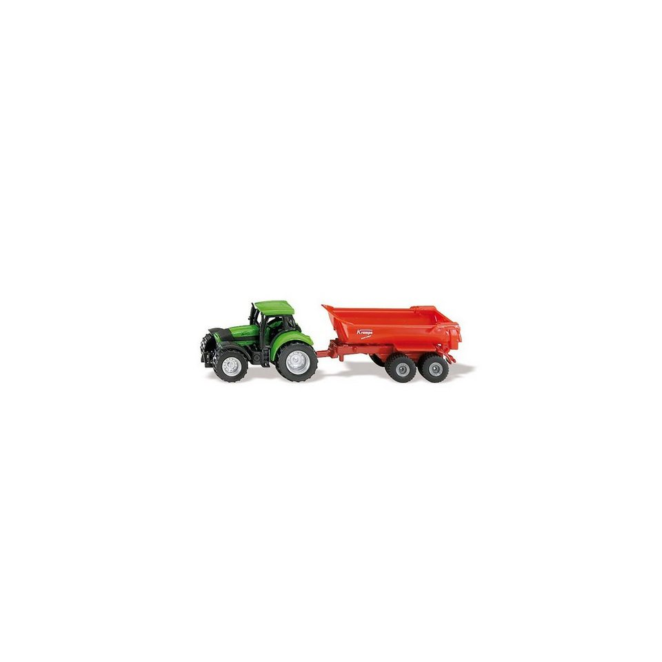 SIKU 1632 Traktor mit Halfpipe-Muldenkipper