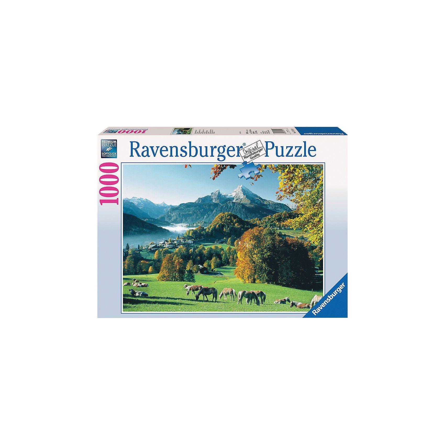 Ravensburger Puzzle 1000 Teile Berchtesgaden gegen Watzmann
