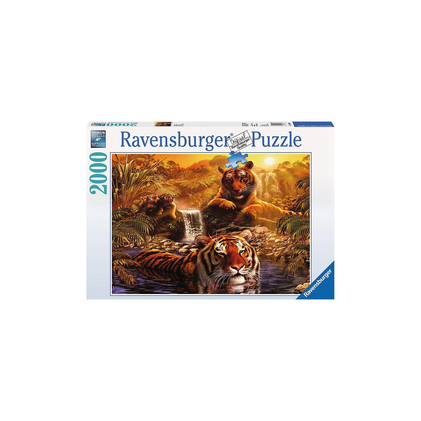 Ravensburger Puzzle-2000 Teile- Am Wasserloch