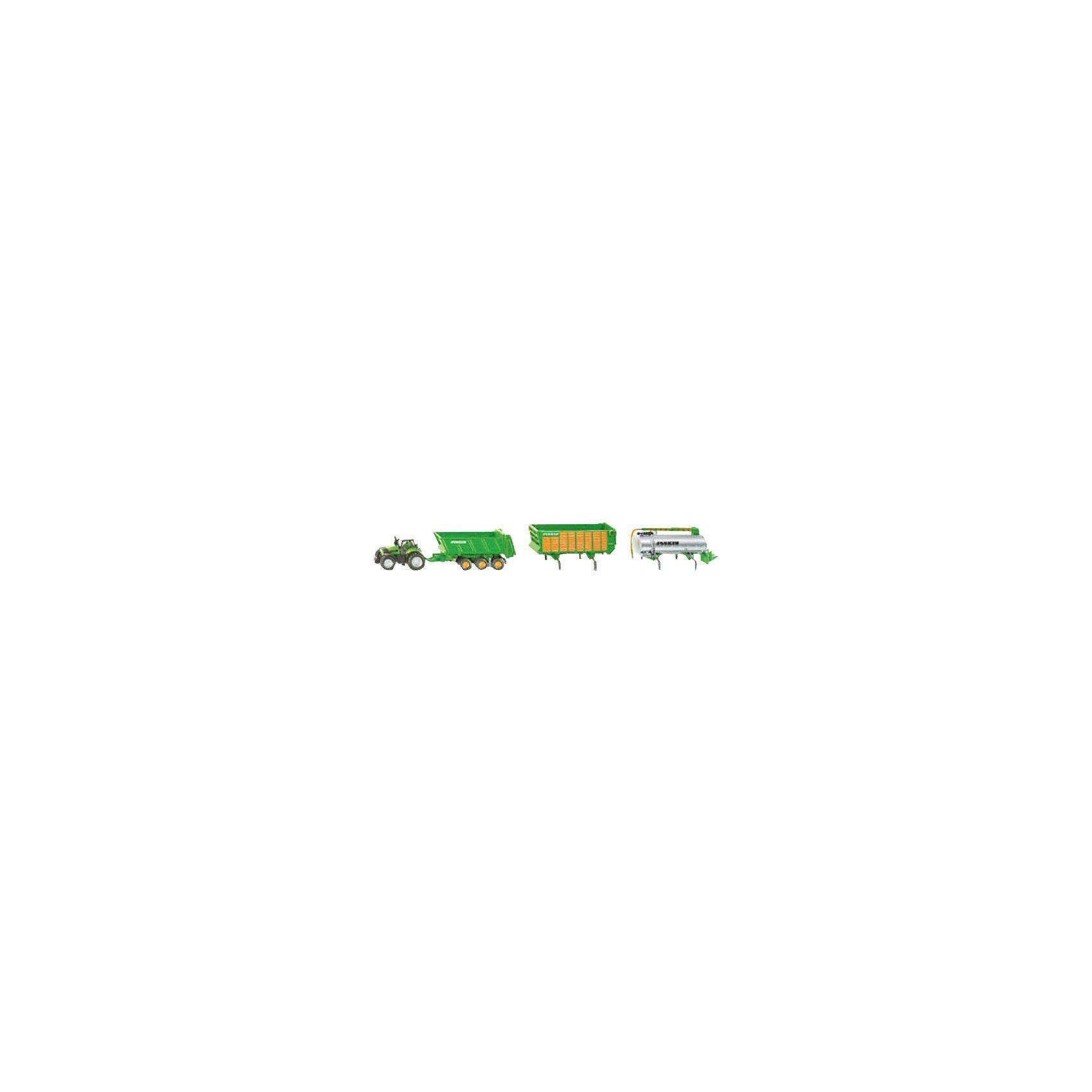 SIKU 1848 DEUTZ Traktor mit Joskin Anhängerset 1:87