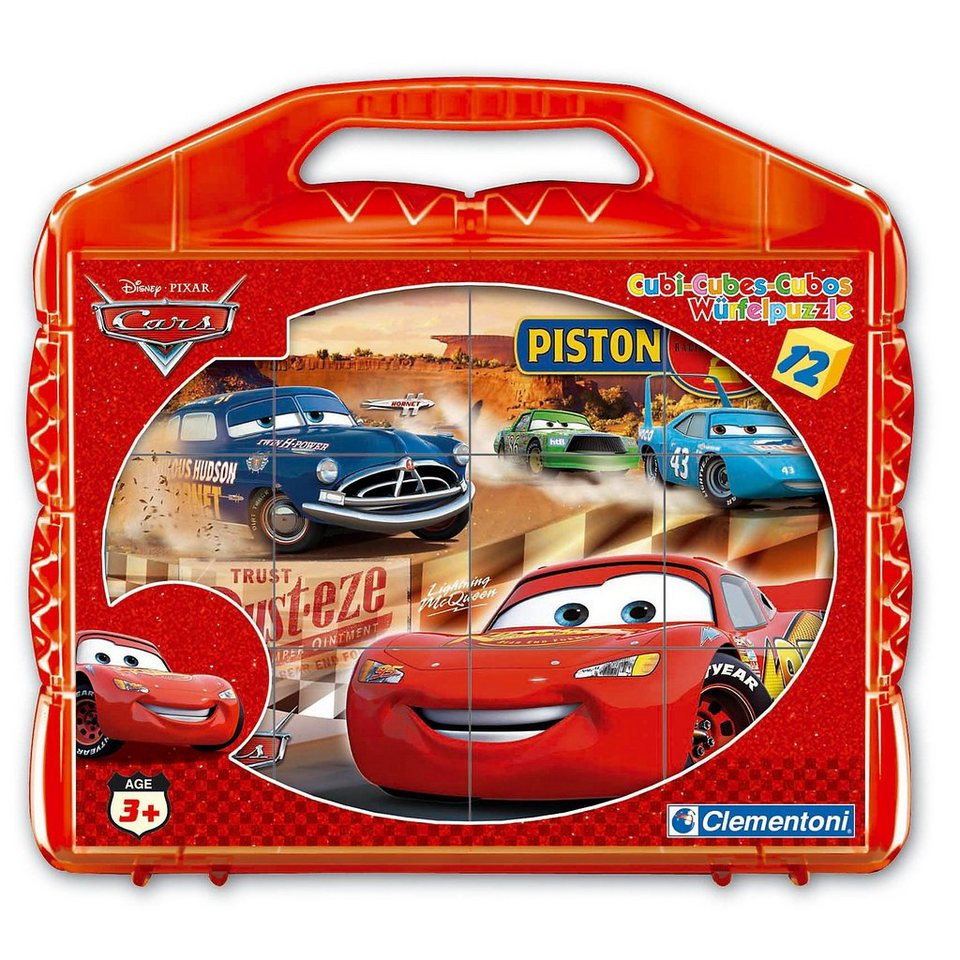 Clementoni Würfelpuzzle 12 Teile Cars