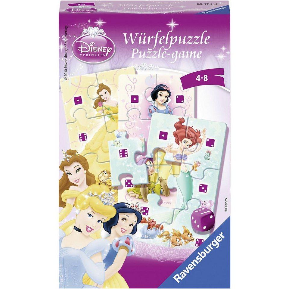 Ravensburger Mitbringspiel DISNEY Princess: Würfelpuzzle