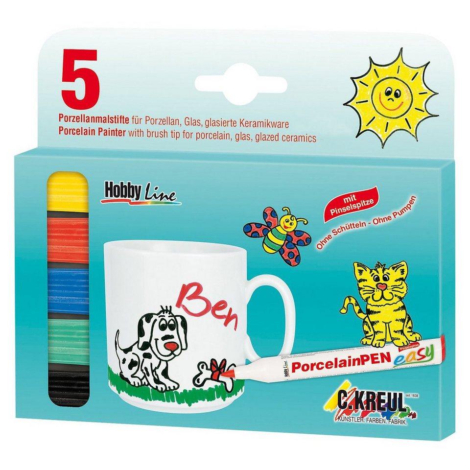 C. KREUL Hobby Line Porzellanmalstifte, 5 Farben