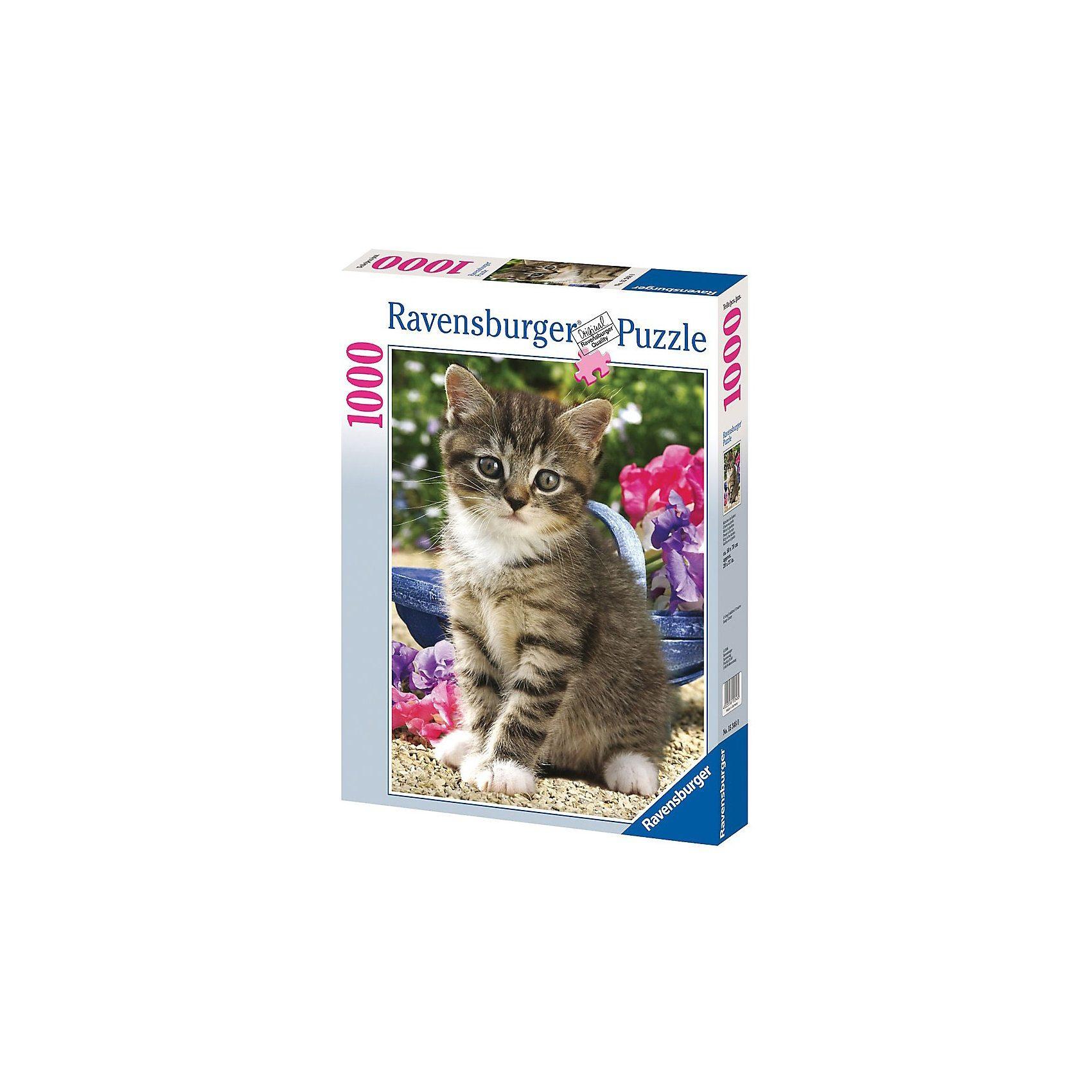 Ravensburger Puzzle 1000 Teile Kätzchen im Garten
