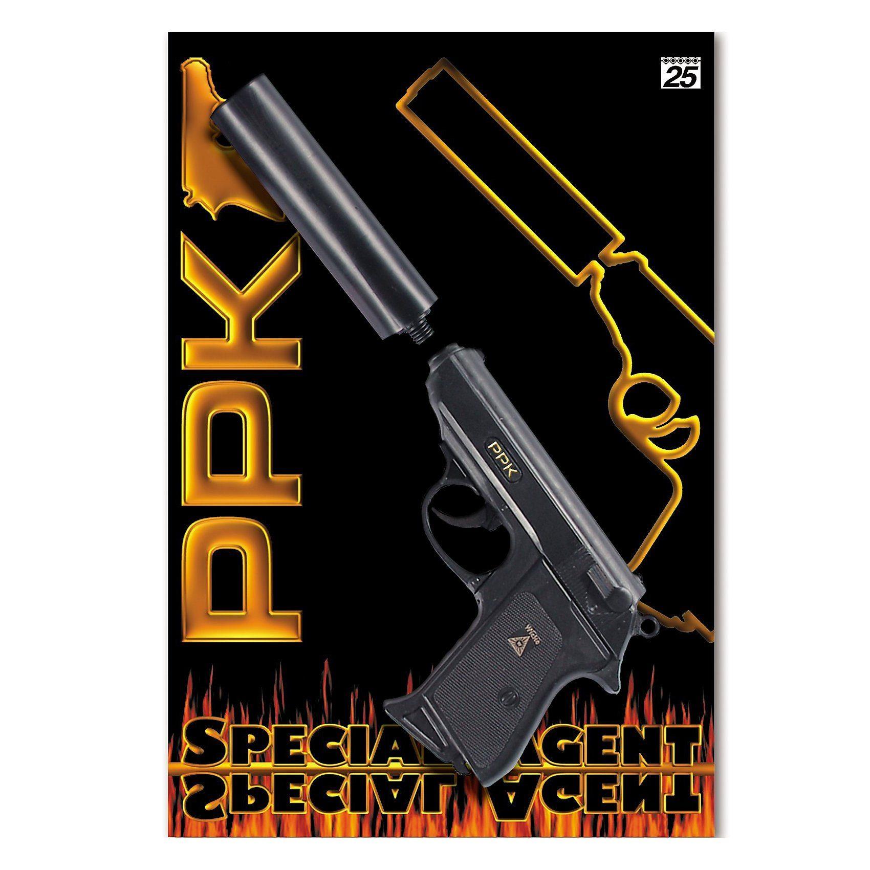 Schnellfeuerpistole mit Schalldämpfer