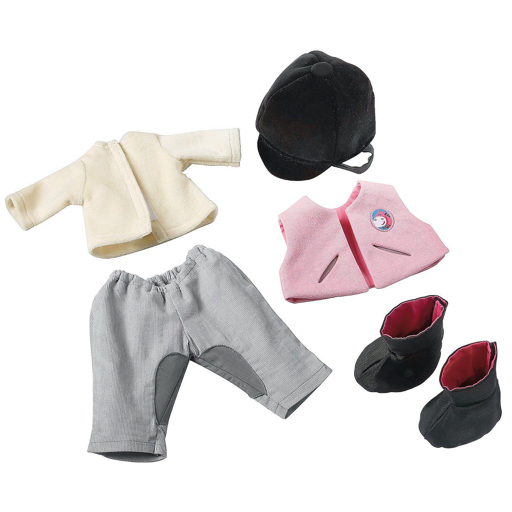 Haba 3762 Puppenkleidung Kleiderset Reiten, 38 cm