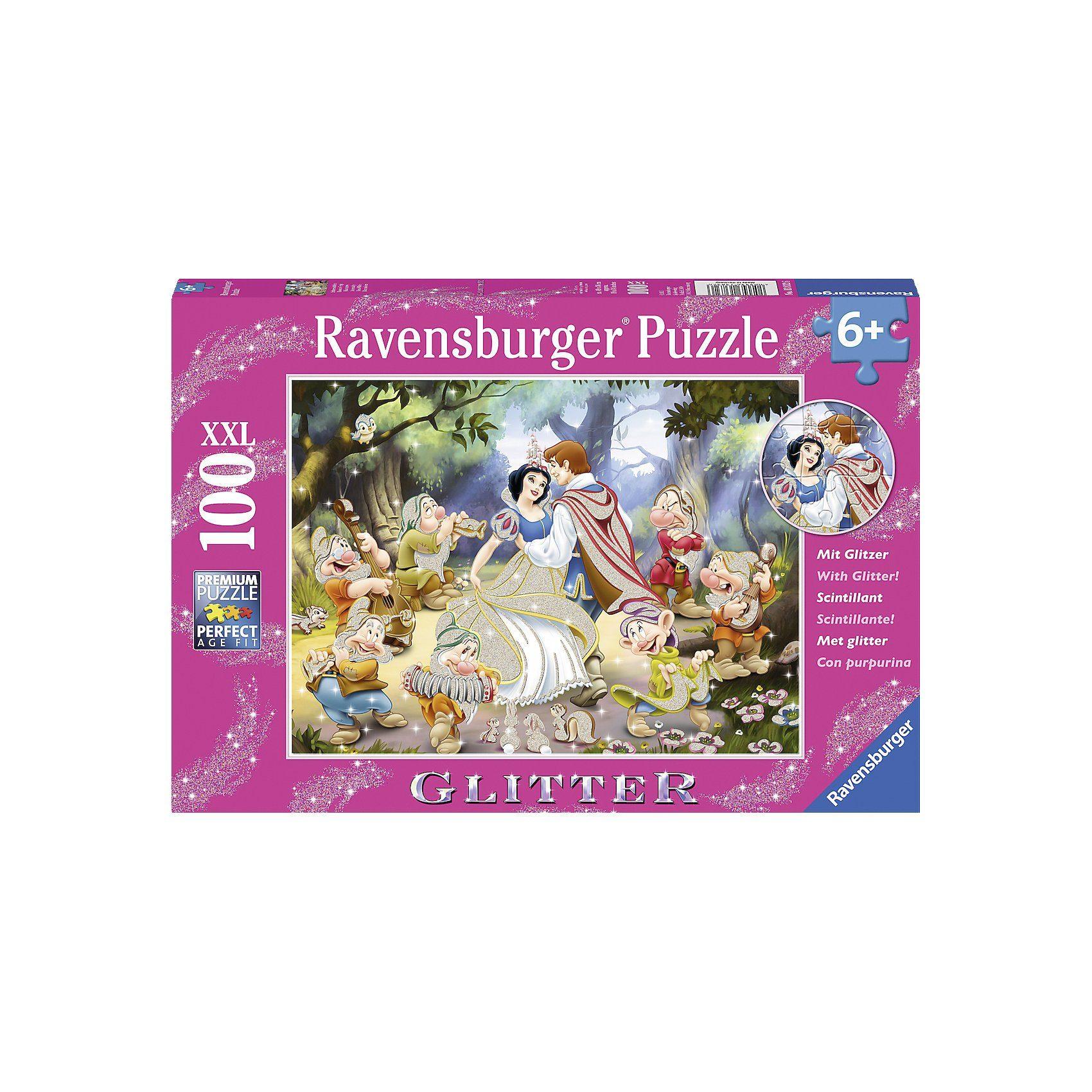 Ravensburger Puzzle XXL Glitter 100 Teile Schneewittchen