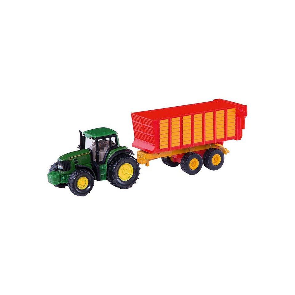 SIKU 1650 John Deere mit Silagewagen