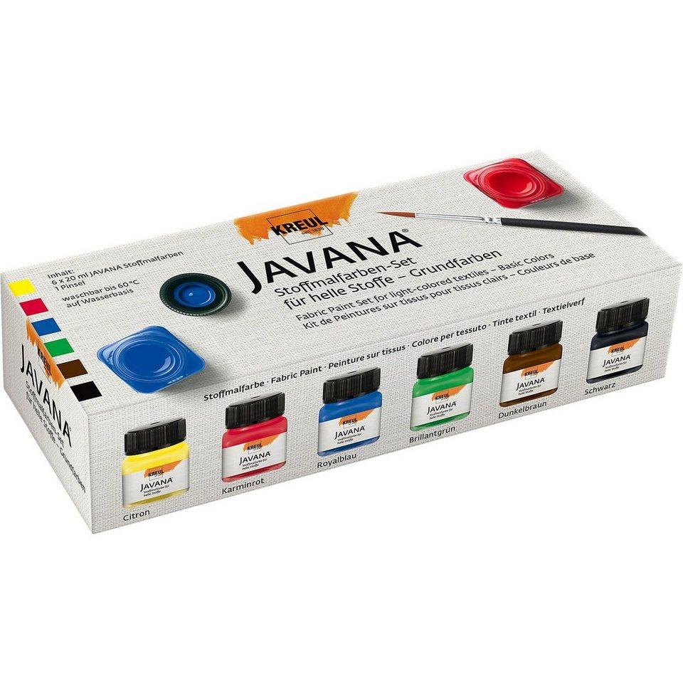 C. KREUL Javana Textil-Kreativset Sunny Basic Colors, 7-tlg.