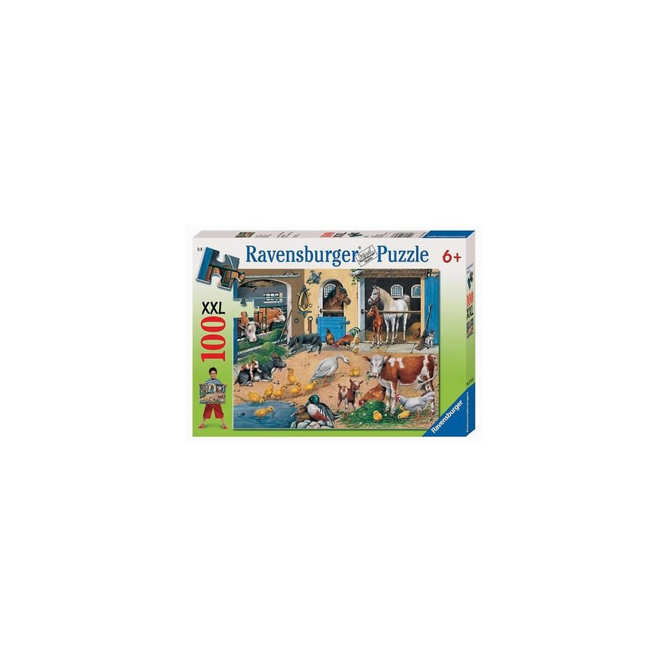 Ravensburger Puzzle 100 Teile XXL Am Stall