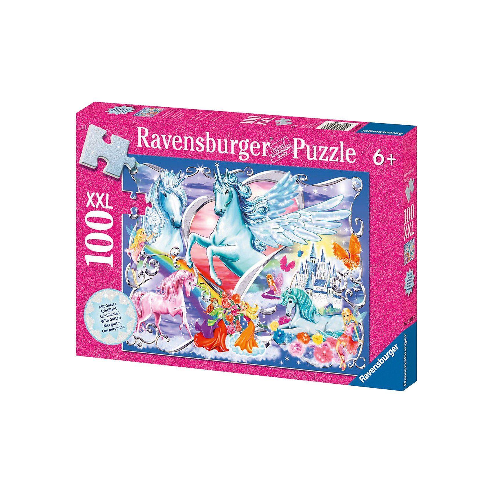 Ravensburger Puzzle Glitzer- 100 Teile- Die schönsten Einhörner