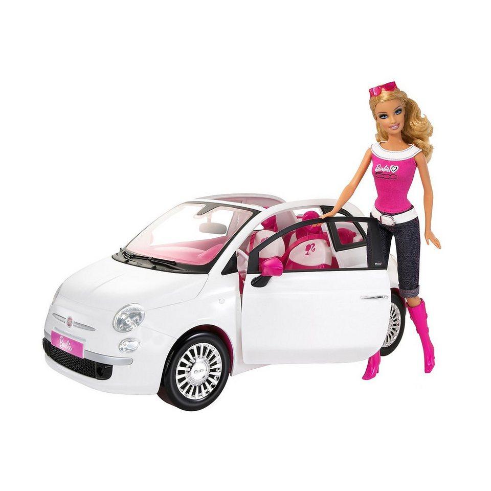 mattel barbie auto fiat mit puppe online kaufen otto. Black Bedroom Furniture Sets. Home Design Ideas