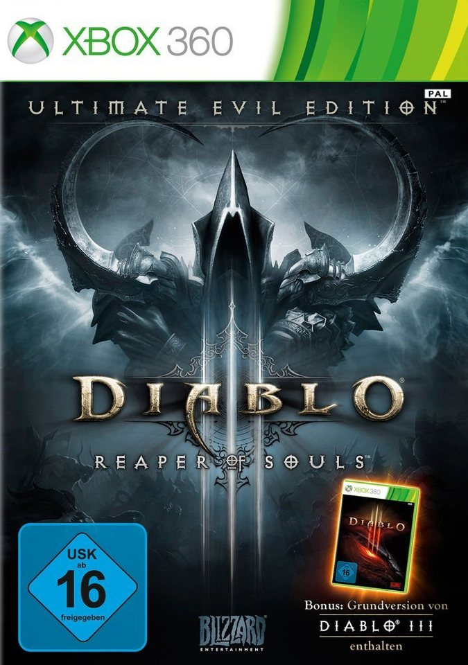 blizzard xbox 360 spiel diablo 3 ultimate evil edition. Black Bedroom Furniture Sets. Home Design Ideas