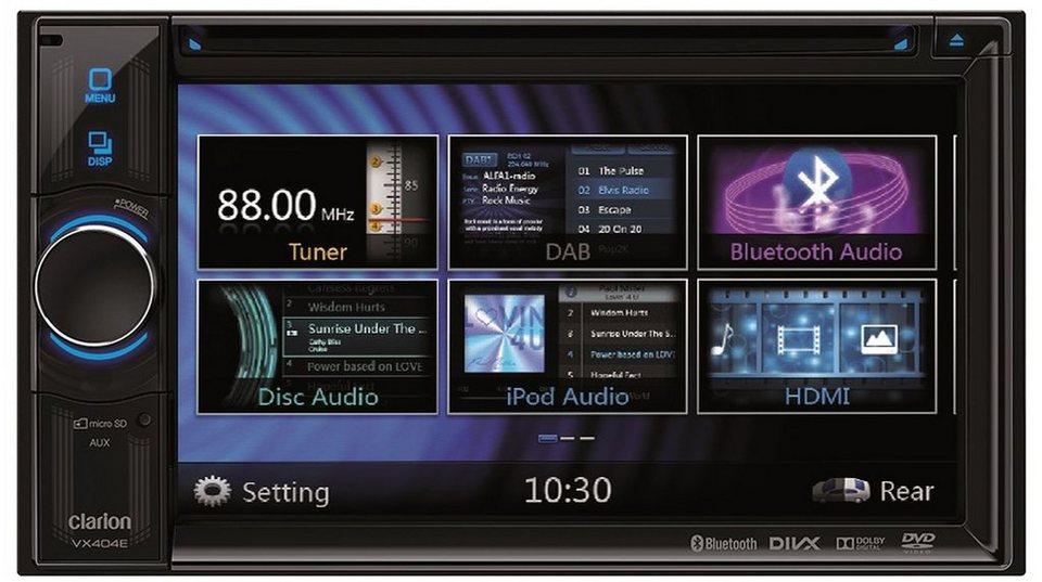 Clarion 2-DIN Multimedia Steuergerät »VX404E« in schwarz