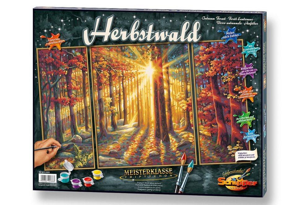 Schipper Malen Nach Zahlen Meisterklasse Triptychon Herbstwald Online Kaufen Otto