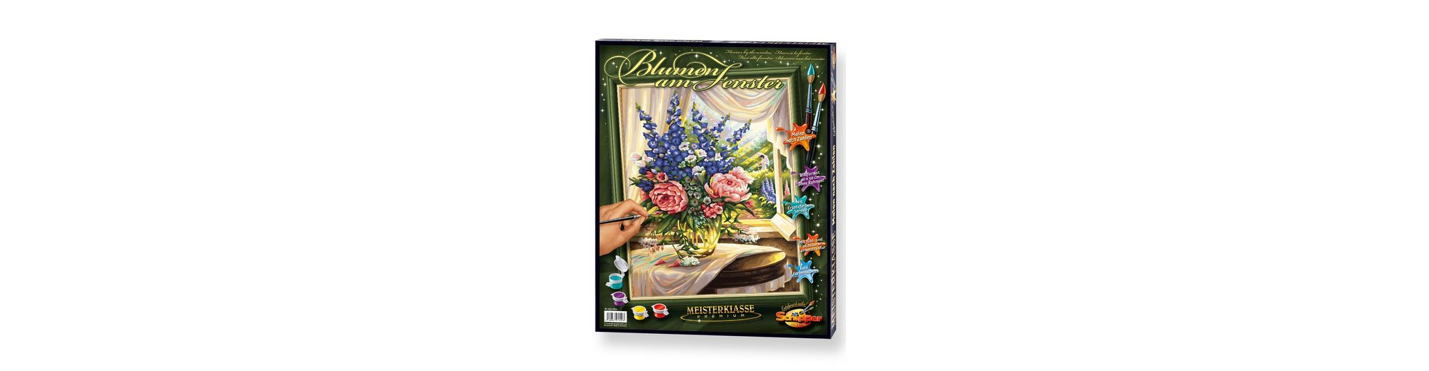 Schipper Malen nach Zahlen, »Meisterklasse Premium - Blumen am Fenster«