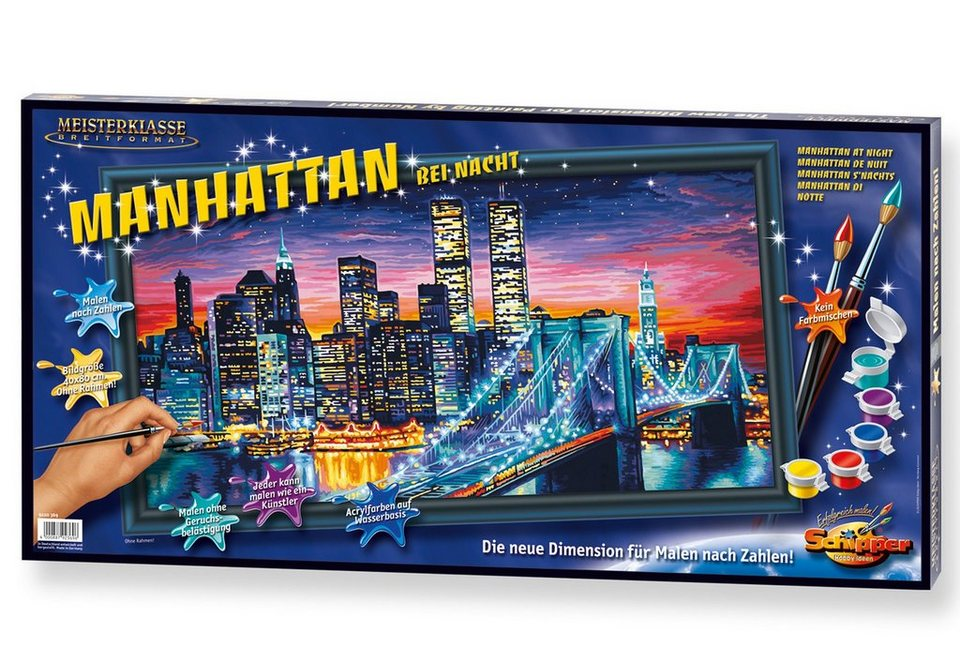 Schipper Malen nach Zahlen, »Meisterklasse Breitformat - Manhattan bei Nacht«