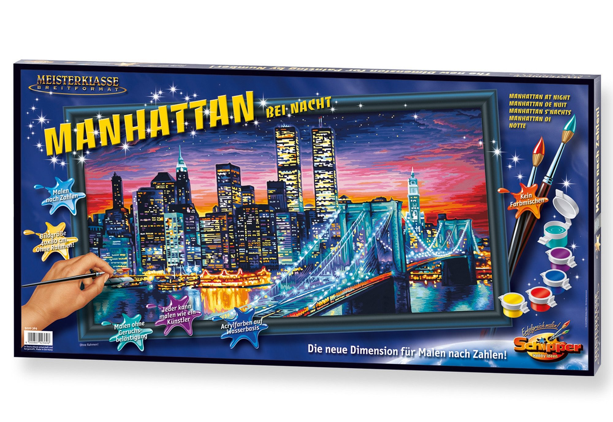 Schipper, Malen nach Zahlen, »Meisterklasse Breitformat - Manhattan bei Nacht«