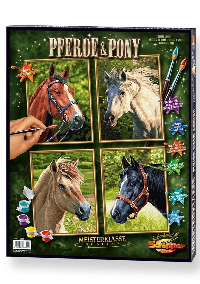 Schipper Malen nach Zahlen, »Meisterklasse - Quattro Pferde & Pony«