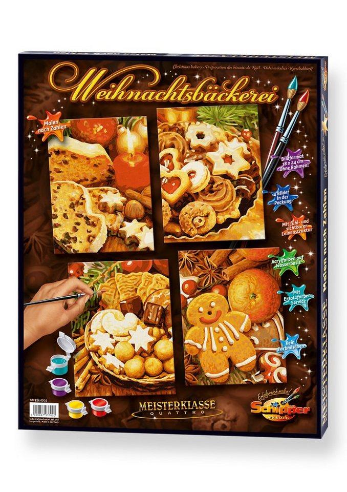Schipper Malen nach Zahlen, »Meisterklasse Quattro - Weihnachtsbäckerei«
