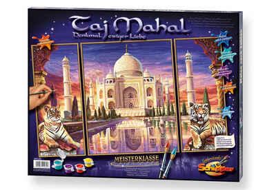 Schipper Malen nach Zahlen »Meisterklasse Triptychon - Taj Mahal«, Made in Germany