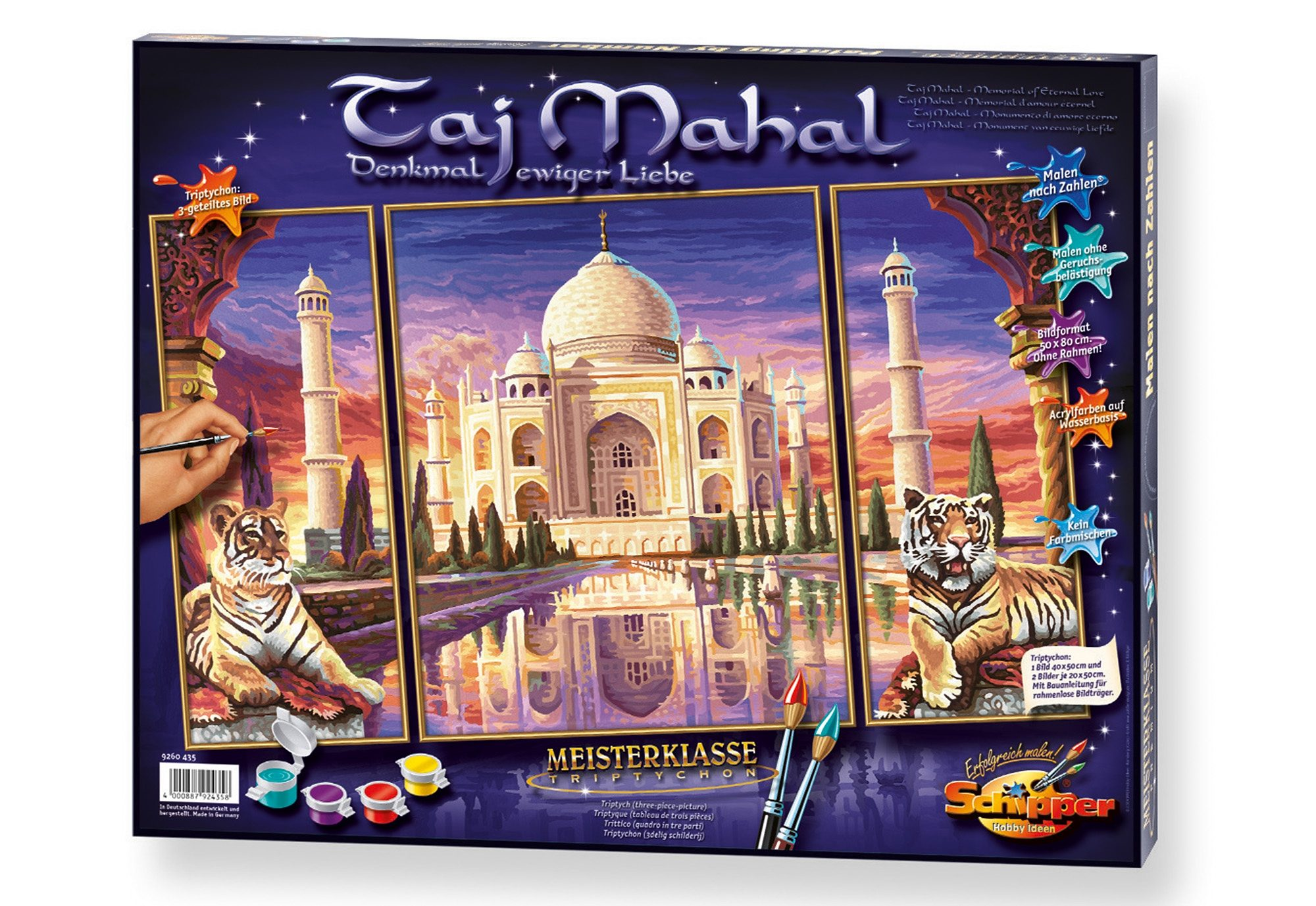 Schipper, Malen nach Zahlen, »Meisterklasse Triptychon - Taj Mahal«