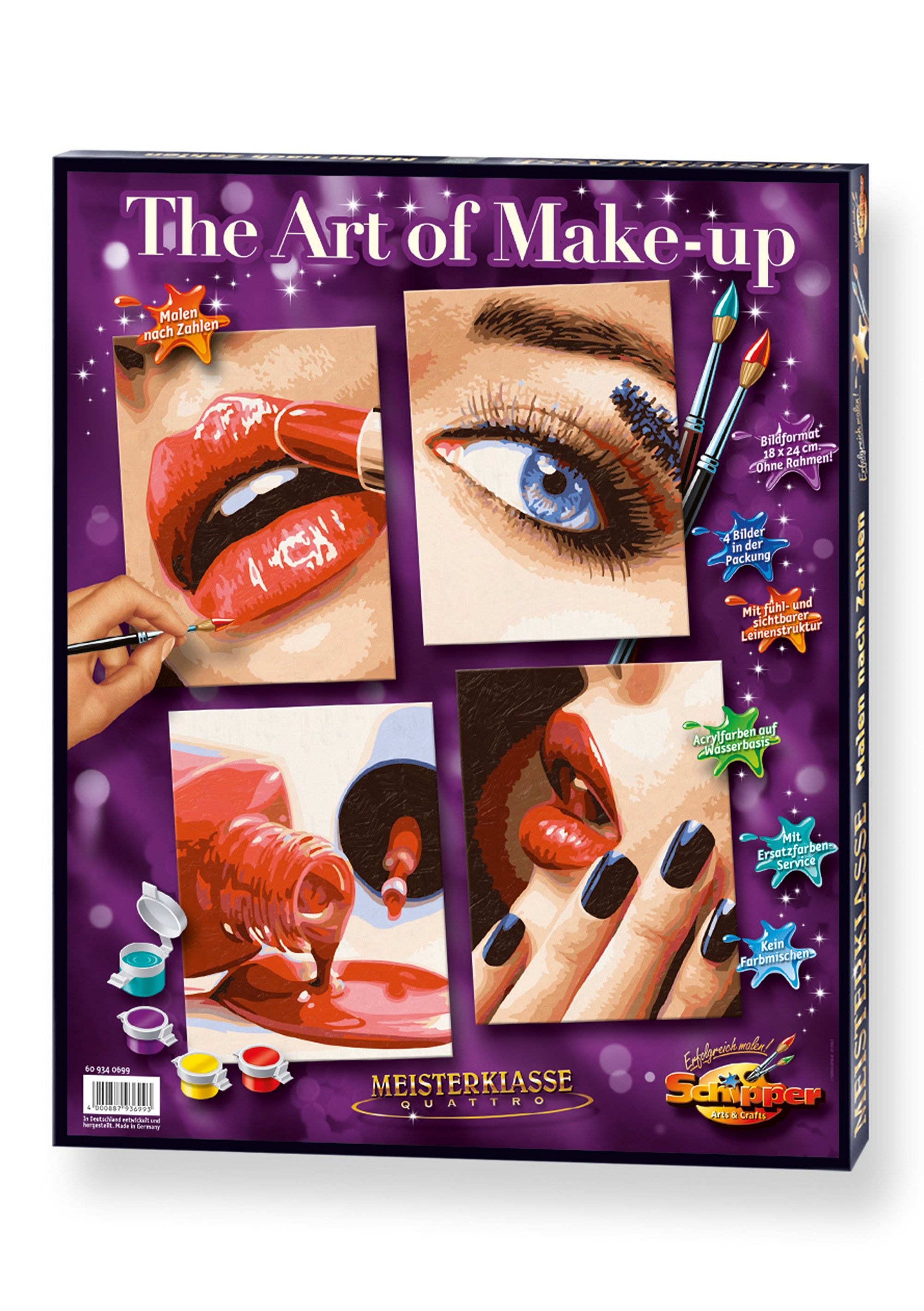 Schipper, Malen nach Zahlen, »Meisterklasse Quattro - The Art of Make-up«